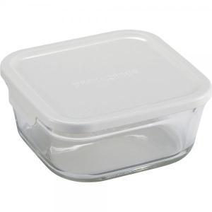 ガラス瓶 キャニスター イワキ iwaki パック&レンジ BOX 小 深型 KN3247H-W 1L ホワイト|mutow