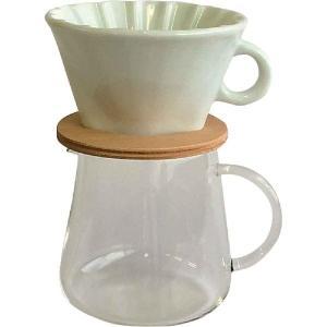 コーヒーポット イワキ iwaki スノートップ コーヒーポット&ドリッパーセット K9964-M 400ml SNOWTOP|mutow