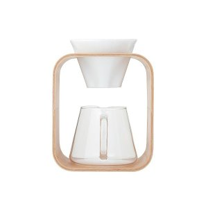 コーヒーポット イワキ iwaki スノートップ コーヒーポット&ドリッパーセットBarefu K9966DS-M 600ml SNOWTOP|mutow