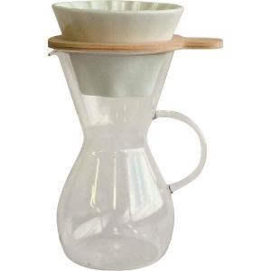 コーヒーポット イワキ iwaki スノートップ コーヒーカラフェ&ドリッパーセット600ml K8694T-M 600ml SNOWTOP|mutow