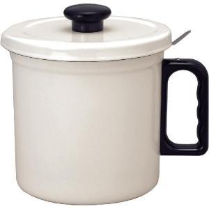 コーヒーポット 富士ホーロー FUJIHORO オイルポット OP-1.5C・W 1.5L ホワイト|mutow
