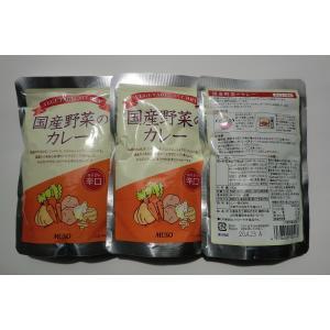 無添加 国産野菜のカレー辛口(レトルト) 200g×3袋|mutumiya-web
