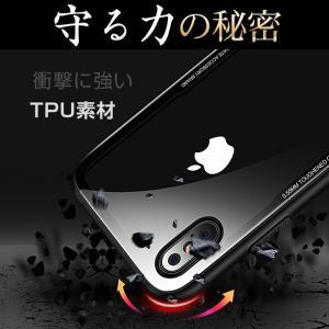 iPhone8Plus ケース iPhone8 plus ケース アイフォン8 プラス ケース  薄型 背面ガラス|muuk-shop|09