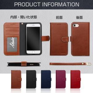iPhone8 ケース iphone7 ケース 手帳 手帳型 アイフォン8 本革 革 強化ガラス付|muuk-shop|11