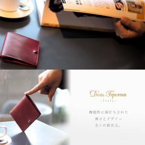 財布 本革 二つ折り財布  メンズ コンパクト イタリアンレザー 薄型  ウォレット サイフ|muuk-shop|02