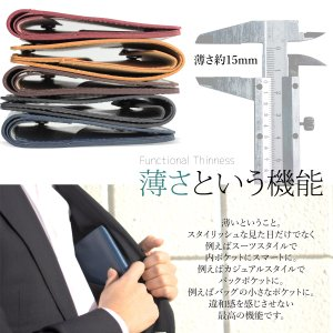 財布 本革 二つ折り財布  メンズ コンパクト イタリアンレザー 薄型  ウォレット サイフ|muuk-shop|04