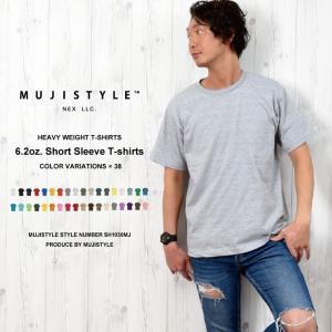 こちらの無地TシャツはアメリカンヘビーTシャツをモデルにしたプロ仕様。 丁寧な縫製と6.2ozのしっ...