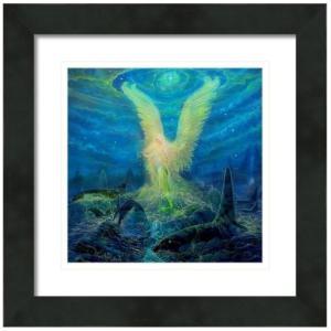 【アウトレット/30%OFF/クーポンあり】マーメイドエンジェル 絵画S(アートプリント)オラクルカードにも使われている絵画 |my-earth