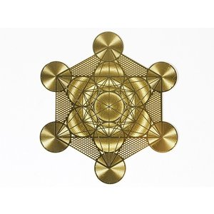 エナジーカード メタトロンキューブ/Metatron Cube(浄化) 神聖幾何学模様【メール便可】|my-earth