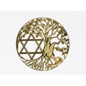 エナジーカード ツリーオブライフ&六芒星/Tree of Life & Hexagram(調和) 神聖幾何学模様【メール便可】|my-earth