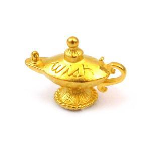 【メール便同梱可】金色に輝く魔法のランプのお守り ゴールデンマジックランプ チャーム|my-earth