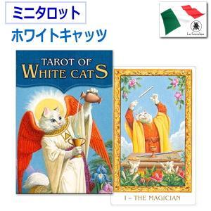 【メール便200円】 かわいい白猫が主人公として描かれたタロットオブ ホワイトキャッツカードです。カ...