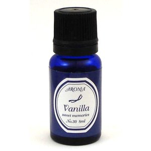 アロマエッセンス バニラ 8ml エッセンシャルオイル配合 <濃厚なバニラの香り>|my-earth