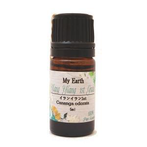 エッセンシャルオイル イランイラン(1st) 5ml (アロマオイル、天然100%、ピュア精油)|my-earth