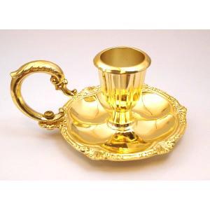 テーパーキャンドルホルダー ゴールド 伝統的なキャンドルナイト用の金色燭台♪|my-earth