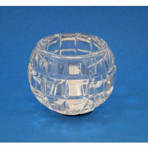 キャンドルホルダー ノスタルギッシュ クリア 重量感と安定感が優れものガラスホルダー|my-earth