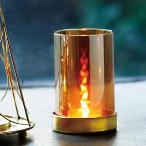シャインキャンドルランプ 高級感ある琥珀色のキャンドルホルダー|my-earth