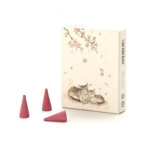 いやしねこ「桜花の香り」コーンインセンス 京都のお香 香彩堂|my-earth