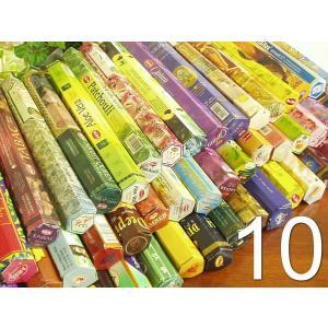 【アウトレット/半額】インセンス(お香)スティックタイプ10箱セット!いろんな香りをお得に試せる!|my-earth