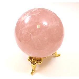 【クーポンあり】ローズクォーツ丸玉 184g (紅水晶/パワーストーン/天然石)  my-earth