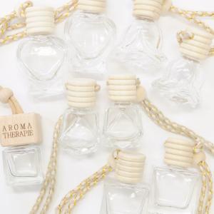スモール ガラス ボトル 2個組 《 ハーバリウム 瓶 シリコンオイル 6角 手芸 ハンドメイド 手作り 》|my-mama