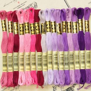 DMC社の刺繍糸 25番糸 赤〜パープル系全16色から ゆうパケ可 《 刺繍 刺しゅう ししゅう ス...