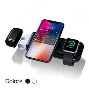 ワイヤレス充電器 4 in 1 AirPods iPhone Apple Watch iPad 同時...