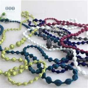 ネックレス レディース トリプル・オゥ ボンボン 刺繍アクセサリー 糸 日本製 スフィア|mycloset-m