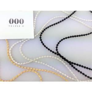 ネックレス レディース トリプル・オゥ ボンボン 刺繍アクセサリー 糸 日本製 120cm マイクロスフィア|mycloset-m