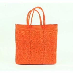 かごバッグ Letra レトラ メルカドバッグ プラスチックトートバッグ Sサイズ オレンジ|mycloset-m