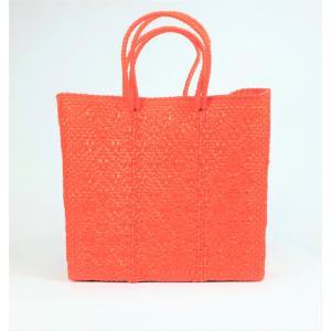 かごバッグ Letra レトラ メルカドバッグ プラスチックトートバッグ Mサイズ オレンジ|mycloset-m