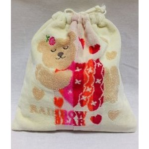 巾着 袋 レインボーベア お着替え袋 体操服袋 クマ 日本製 ラブリー|mycloset-m