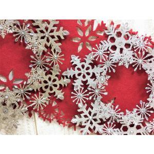 クリスマス リース 飾り 雪の結晶 オーナメント 装飾 直径30cm 金銀|mycloset-m