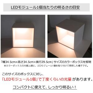 LEDモジュール 電球色 1個入り(設置用ネジ4本付属) mycraft 07