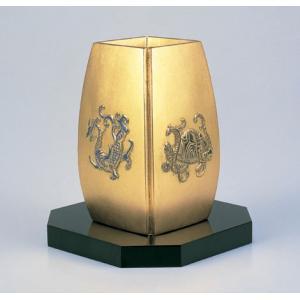 高岡銅器 花瓶 花器 飾り 四神獣 金色 風水花瓶 114-60 一輪挿し おすすめ おしゃれ かわ...