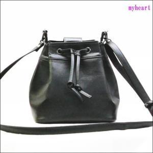 巾着型バッグ グローブ2123 ブラック 無地(バッグ)|myheart-y