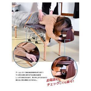 マッサージベッド 折りたたみベッド マッサージ台 施術台 施術ベッド 整体ベッド コンパクト|myhome-jp|06