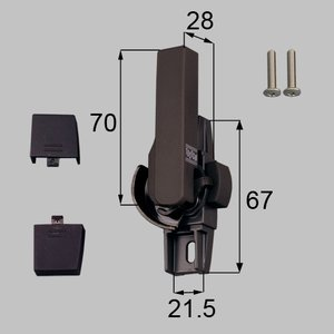 トステム LIXIL サッシ錠 クレセント 左側用 G-02L-BZLV CP|myhome-mainte