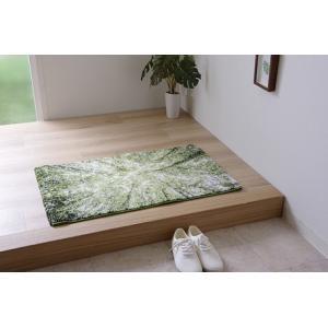 玄関マット トルコ製ウィルトン織り ガイア 森 約70×120cm メーカー直送|myhome-mainte