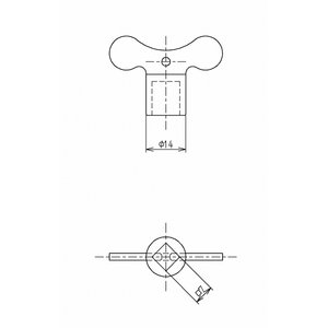 TOTO 共用水栓鍵 TH15122D 旧品番15122DFC メール便対応|myhome-mainte