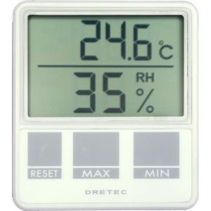 ドリテック dretec デジタル温湿度計 ホワイト O-214WT メール便対応|myhome-mainte