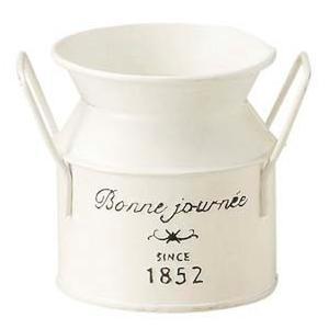 ホワイトプランツ ミルク缶型  8cm  SALUSセイラス 4530254078280 myhome-mainte