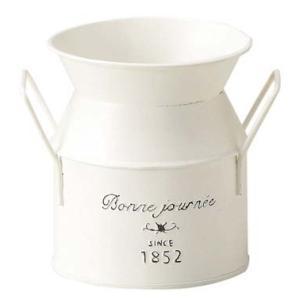 ホワイトプランツ ミルク缶型  10cm  SALUSセイラス 4530254078273 myhome-mainte