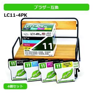 マイインク ブラザー インク LC11-4PK 4色 セット...