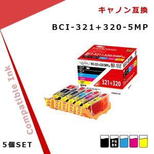 マイインク キヤノン インク BCI-321+320/5MP...