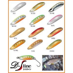 スミス D-Sライン D−S ライン  30mm 3g  1.2mm厚 源流域の小渓流やスレた魚へ対応のスモールサイズ|mykiss