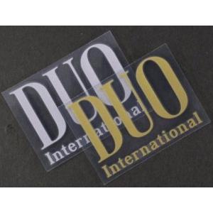 デュオ DUO 転写 ロゴ ステッカー 小 約 75mm×56mm シール |mykiss