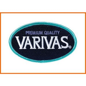 バリバス VARIVAS エンブレム  楕円 ネイビー 9×5.5cm ワッペン|mykiss