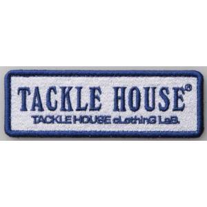 タックルハウス ロゴ ワッペン TACKLEHOUSE  33mm 97mm ホワイト×ネイビーブルー|mykiss