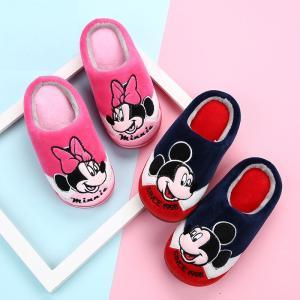 Disney(ディズニー)ミッキーマウス ミニーマウス スリッパ 子供 キッズ ルームシューズ ネイ...